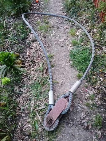 Cabo de aço / estropo aço 4,90m 32mm