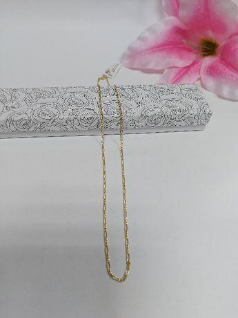 Złoty łańcuszek złoto 585 splot figaro