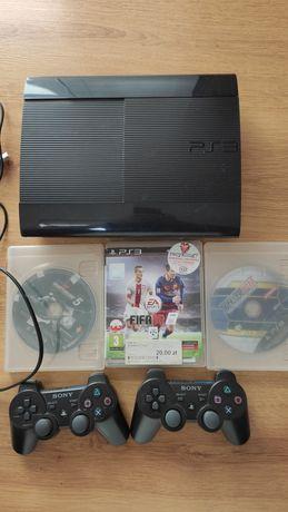 Konsola PS3 superslim 2 pady 3 gry