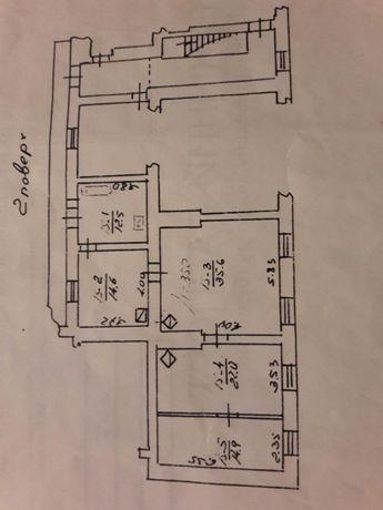 4 кім. квартира 100 кв.м.(центр,можливо під хостел)