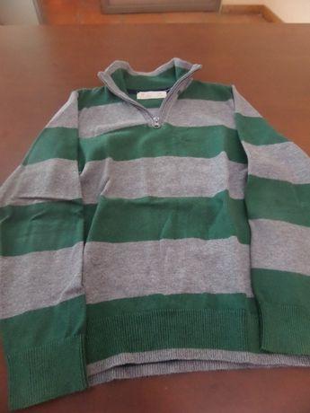 - Camisola de fecho Zippy 7/8 anos - Preço 5 Euros