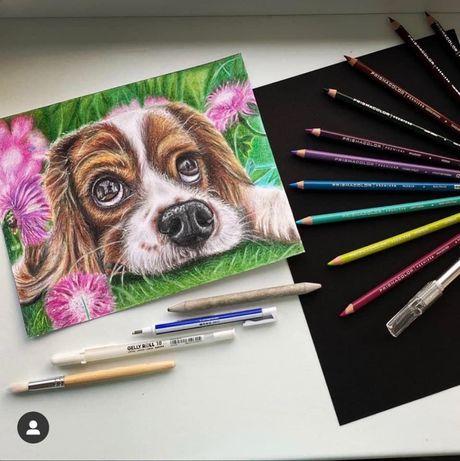 Rysunek ołówkiem, rysunek kredkami, portret na zamówienie ze zdjęcia
