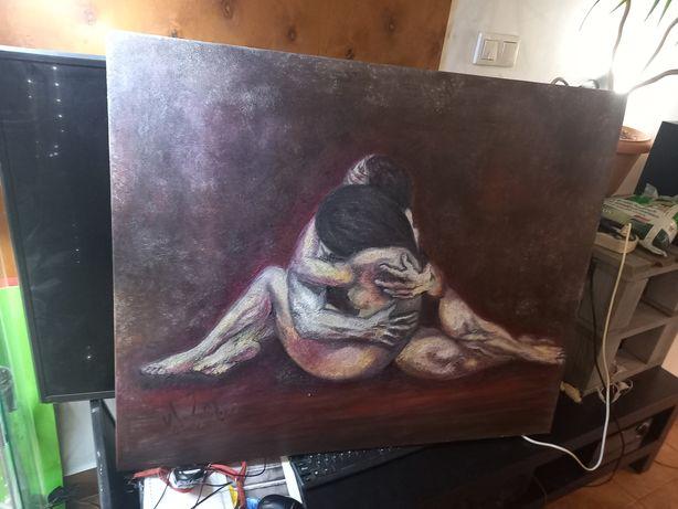Obraz duzy ,malowany na płótnie