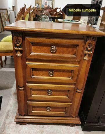Szafka drewniana rzeźbiona z szufladami