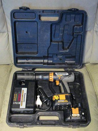 Wiertarko-wkrętarka Panasonic - 2 aku,ładowarka, walizka - USZKODZONA