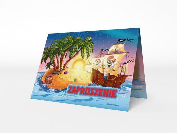 Zaproszenie okolicznościowe wyspa skarbów koperta gratis