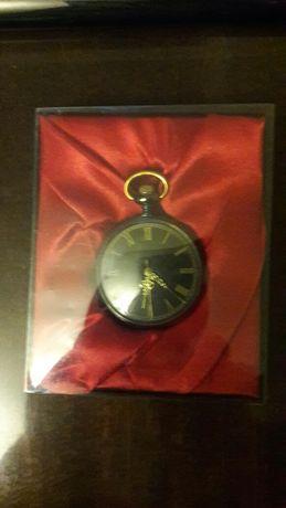 Годинник карманний чорний з талісманом удачі