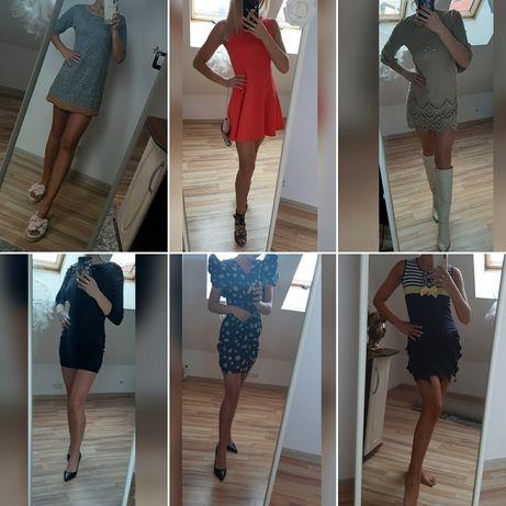 Zestaw 6 Sukienek Komplet XS Sukienki