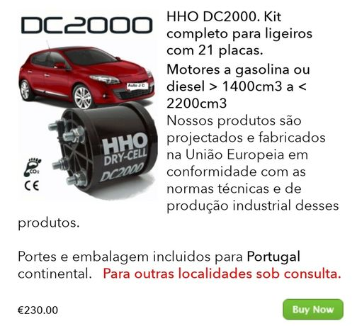 Kit Hidrogénio DC2000