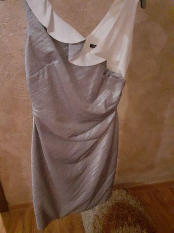 Sukienka srebrno - kremowa