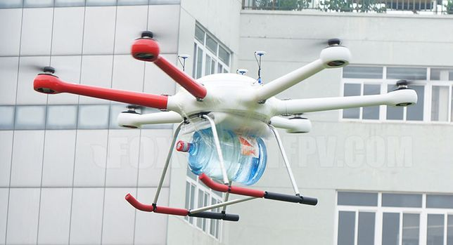 Грузовий дрон коптер квадрокоптер вантажний дрон для доставки вантажу