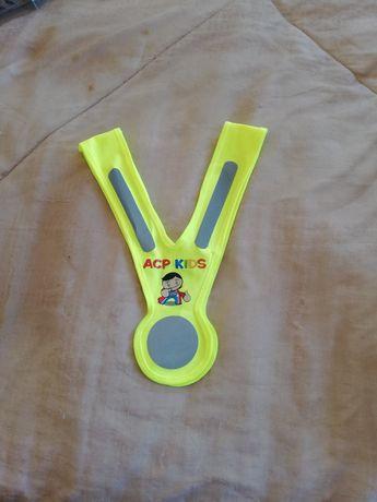 Colete fluorescente para criança