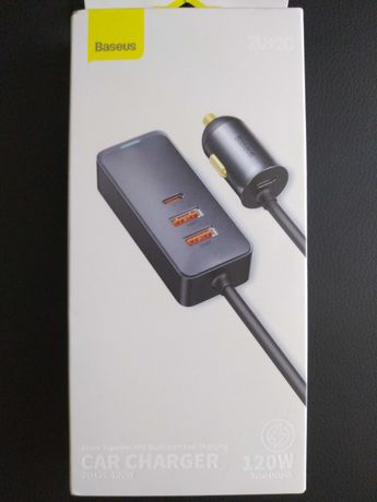 Автомобильное зарядное устройство Baseus 120W, 2U+2C