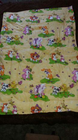Детское одеяло на овчине 100×140см