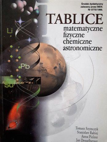 Tablice - matematyczne, fizyczne, chemiczne, astronomiczne