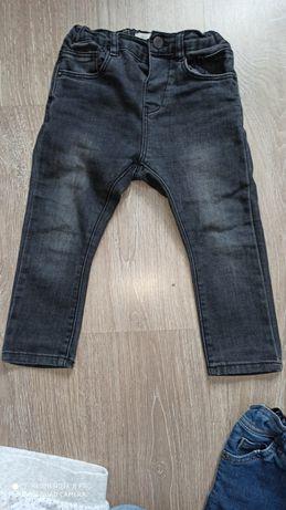 Spodnie rurki zara jeans r. 86