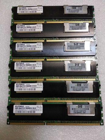 Серверная оперативная память 4gb Elpida DDR3-1333Mhz PC3-10600R