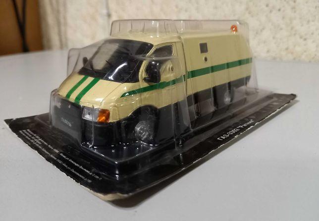 ГАЗель инкассаторская - игрушка от DeAgostini из серии Автолегенды