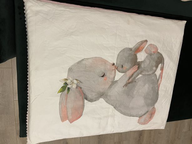 Одеяло, конверт на выписку с ручной росписью