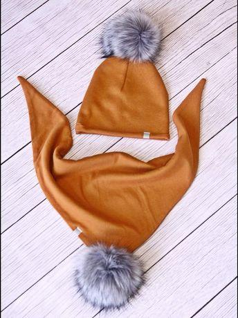 Komplet zimowy czapka i chusta