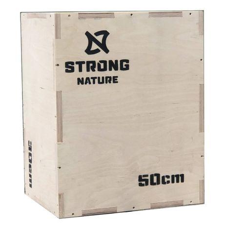 Skrzynia plyometryczna drewniana STRONG NATURE 40x50x60 15mm PRODUCENT