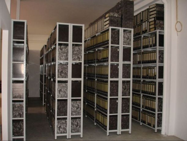 Estante metálica de arquivo ou arrumação só encaixe