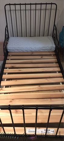 Łóżko metalowe Ikea  + stelaż + materac gratis