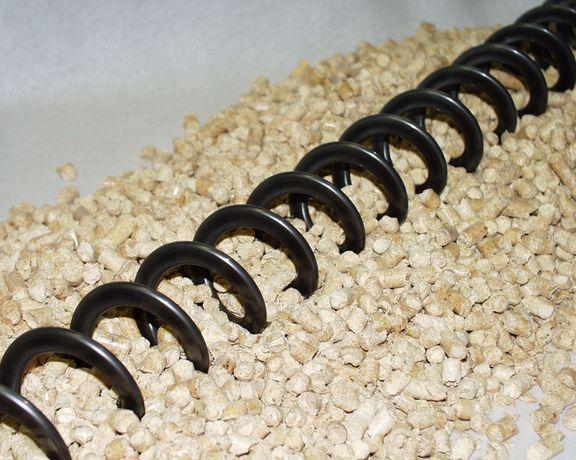 погрузчик зерна гибкий шнек спиральный конвейер Novicor 90mm 3т/час