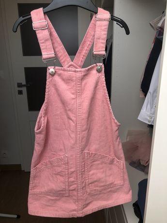 Sukienka sztruksowa, ogrodniczka, na szelkach r. 110 Reserved