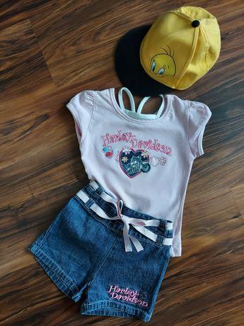 Spodenki i bluzka dla małej damy Harley Davidson