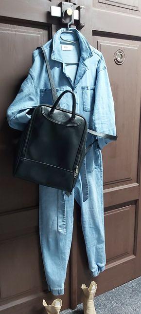 Samsonite plecak torebka skorzany