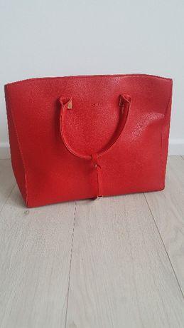 nowa torba shopper czerwona MOHITO