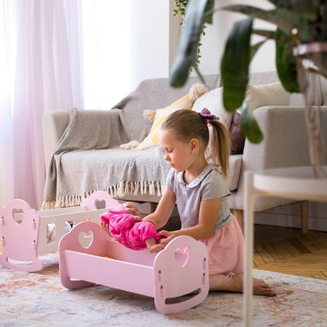 Игрушки кроватка для пупсов кукол люлька для беби борна реборна