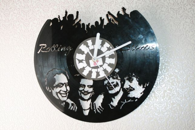 Relógio de Parede em Vinil - Rolling Stone