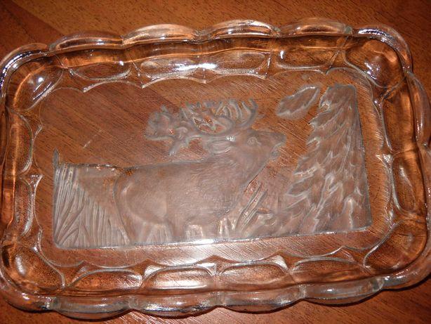 блюдо селедочница резное стекло ссср