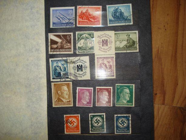 niemieckie znaczki z 2 wojny światowej