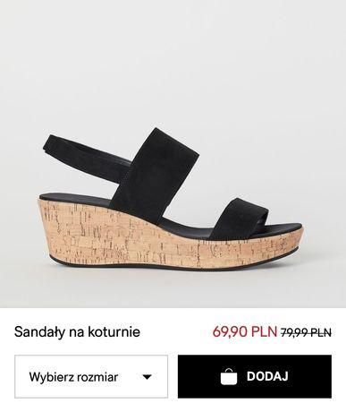 Sandały H&M 40 nowe