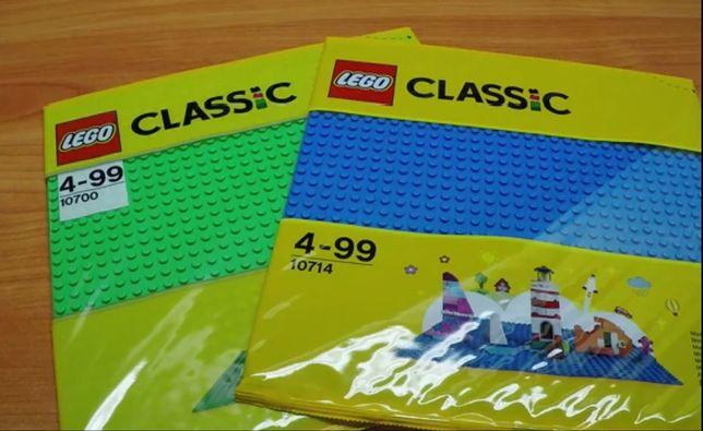 Lego Płytka 10700 Zielona, 10714 Niebieska, 11010 Biała, 10701 Szara