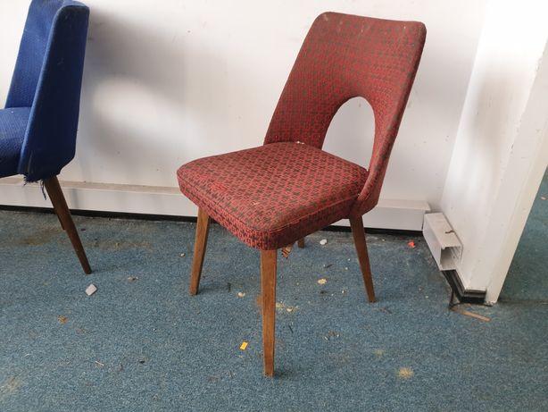 Stare krzesło muszelka z dziurką PRL