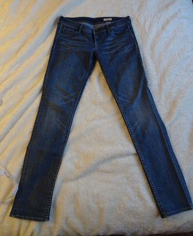Damskie jeansy H&M, biodrówki, Low waist slim leg, Rozm. 30/34