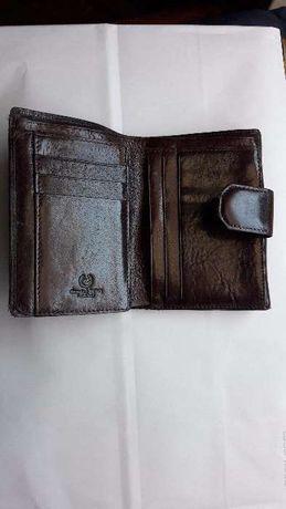 Carteira em pele cartões e porta moeda -senhora