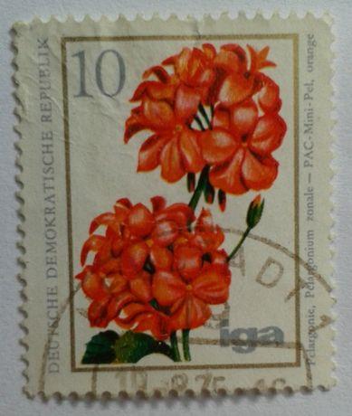 Znaczki pocztowe - KWIATY - FLORA - NRD, Burkina Faso (Górna Wolta)