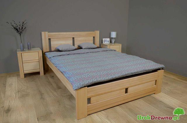 Łóżko drewniane bukowe do sypialni NELA szybka dostawa cały kraj