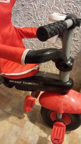 Велосипедтрёхколёсный с ручкой Smart Trike Sport 3 в 1