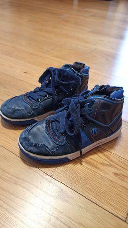 Buty trzewiki skórzane na jesień dla chłopca REPLAY rozm. 30