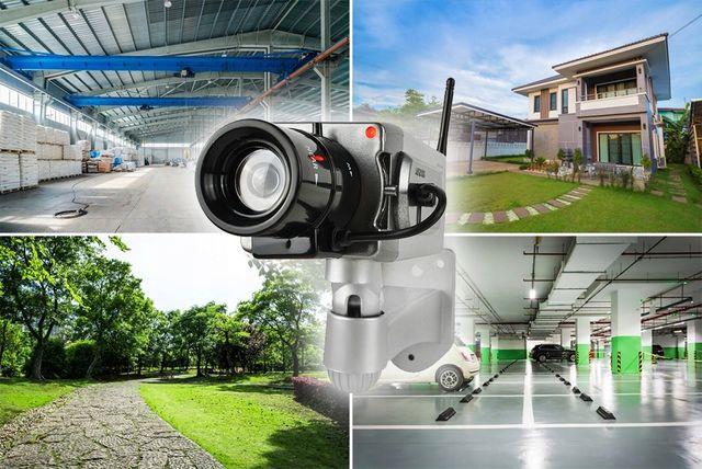 Ruchoma Atrapa Kamery Kamera z Sensorem Ruchu Led NOWA realistyczna