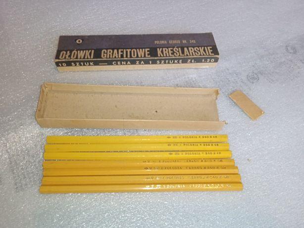 Ołówki grafitowe kreślarskie - 7 szt #340