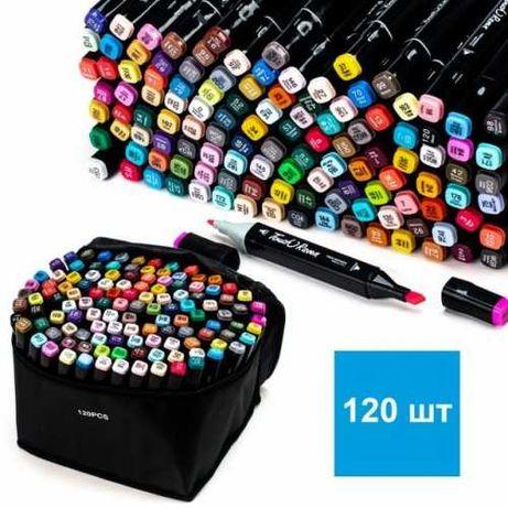 Набор маркеров для рисования на спиртовой основе Touch Raven 120 шт.