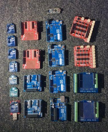 Большой набор Arduino, Xbee и дополнительных аксессуаров