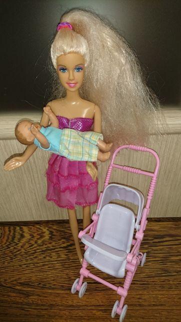 Кукла Defa с коляской и пупсиком
